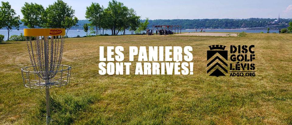 Le Parcours du Rigolet de Lévis a enfin ses paniers officiels